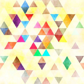 Crazy Watercolor Triangles