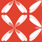 Abstract Dragonfly Floral (red - L)