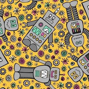Retro Robots (Goldenrod)