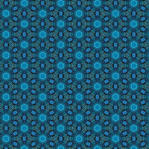 Repeating medallions in Blue
