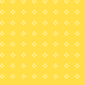 White Dashed Pluses on a Yellow Background