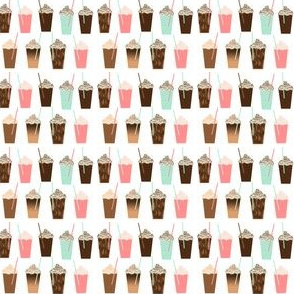 iced coffee summer latte cute food print