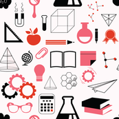 Science Set (red & pink)