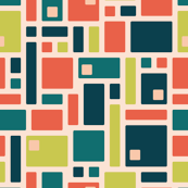 Mid-Century Squares with cutouts (shrimp)