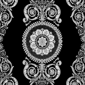 Neoclassical Damask ~  Black and White