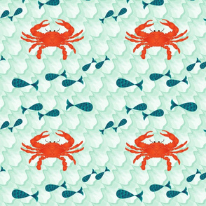 Red Crab & Fishes