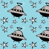 UFO's Among The Stars on Blue