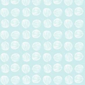 razor clam block print in seaglass blue