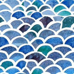 Watercolor Fish Scales