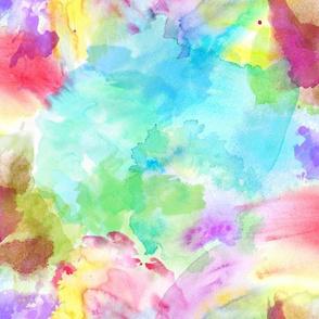 Tie Dye Rainbow Watercolor