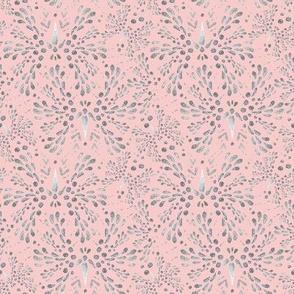 Silver Twinkle in Rose Quartz