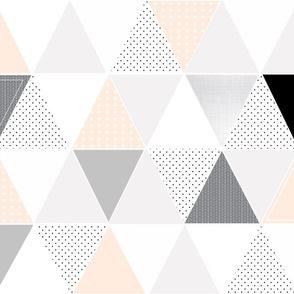 Pattern Play Triangles Blush