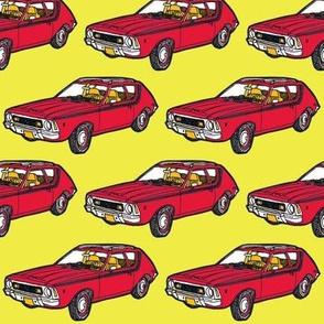 1970 - 1978  AMC Gremllin red on yellow