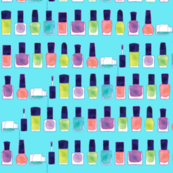 nail polish watercolors - blue