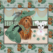 Yorkshire terrier -Yorkie Victorian Shine  42x36 Large Print