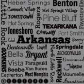 Cities of Arkansas, grey