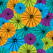 Abstract Floral Neon