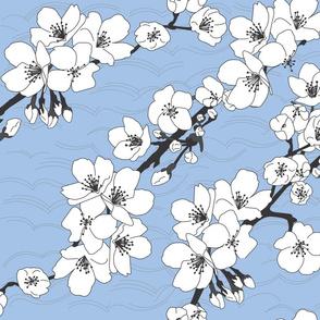 kimonofabricltblue