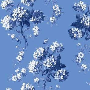 Edwina Floral bold blueberry