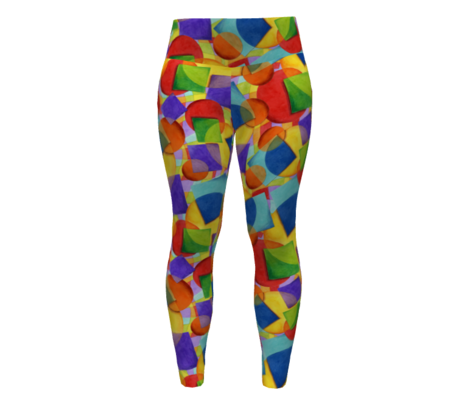 Candy Rainbow Plaid Geometric
