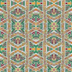 Hexagon Interweave Vertical Stripe