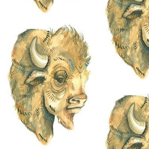 Tribal Buffalo Head
