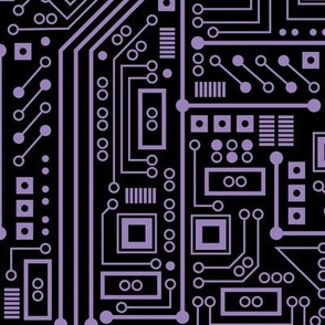 Evil Robot Circuit Board (Large Purple)
