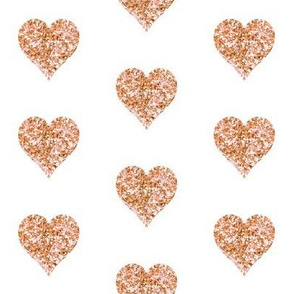 Rose Gold Glitter Hearts
