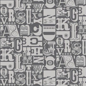 Woodtype Alphabet* (Pepper Pot)