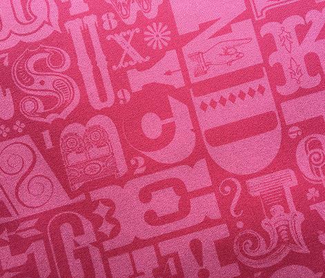 Woodtype Alphabet* (Pink Riot)