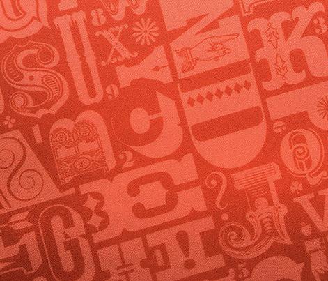 Woodtype Alphabet* (Tomato Soup)