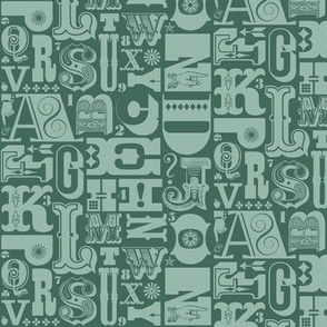 Woodtype Alphabet* (Statue of Liberty)