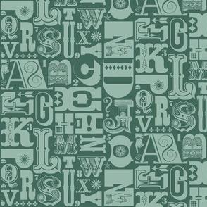 Woodtype Alphabet* (Statue of Liberty)