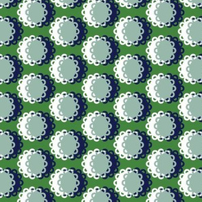 Glenview* (Dollar Bill) || doily doilies circles polka dots shadow moon flowers geometric abstract