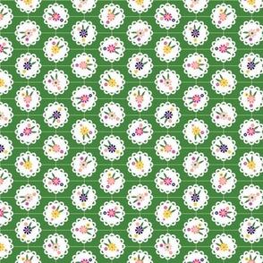Wedgewood* (Dollar Bill) || flowers flower floral doily doilies vintage shabby chic garden lattice polka dots nature leaves garden