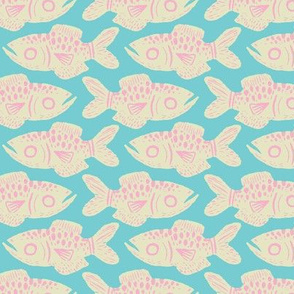 Cotton Candy Fish Print
