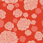 rock and rose - China red/grapefruit
