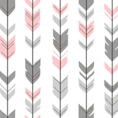 Arrow Feathers- pink/grey/white-ch