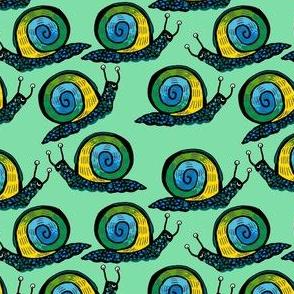 Snail [Trendy Ombre] in dew