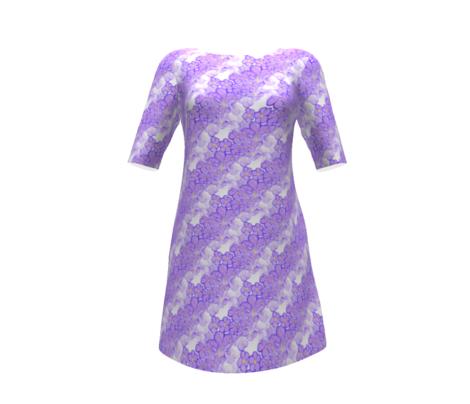 purple floral watercolor