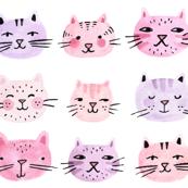 Cat Lady Watercolor