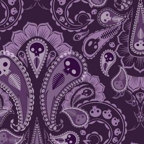 Ghost Paisley - purple