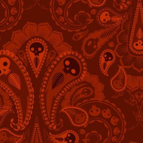 Ghost Paisley - red