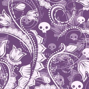 Ghost Floral - purple