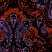 Ghost Paisley - purple & red