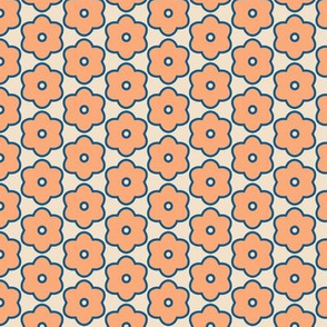Peach Flower Geometric