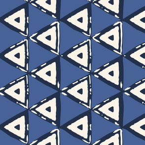 Triangles Blue