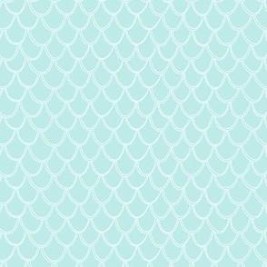 Fish Scales - light blue