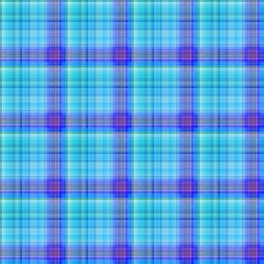 DREAM OF AN OCEAN BLUE SEA GARDEN PLAID