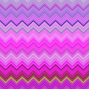 DREAM OF AN OCEAN HAPPY PINK SEA GARDEN CHEVRON ZIGZAG